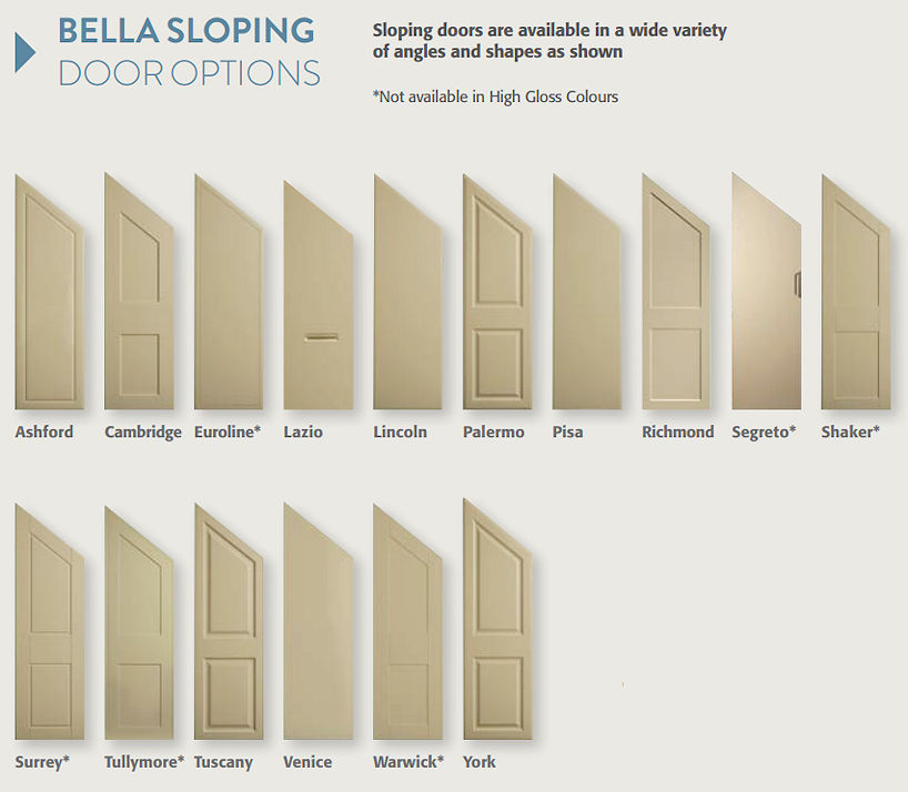 Sloping Bedroom Doors, Bella Sloping Bedroom Doors, Sloping ...